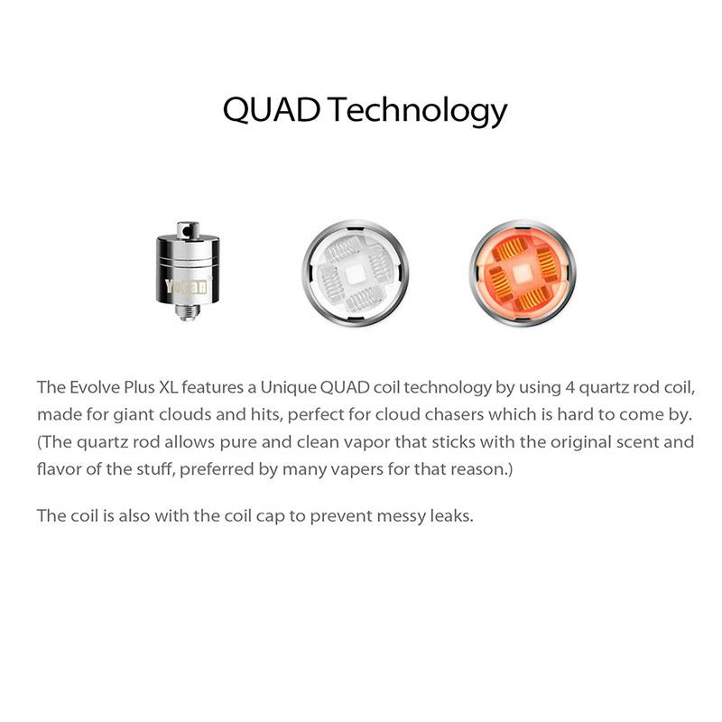 097617457ead9 5Pcs Box Yocan1 Evolve Plus XL QDC Quard Quartz Replacement Coils US ...